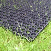 12 x Heavy Duty Rubber Grassmats / Playground Safety Flooring Mat 1.0m x 1.5m